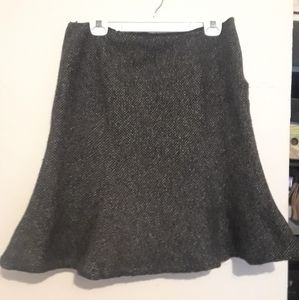 Ralph Lauren Wool Tweed Skirt Blk & Wht (Midi)
